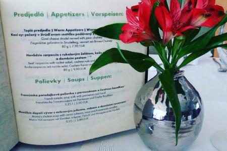 Reštaurácia Ponteo - jedálny lístok