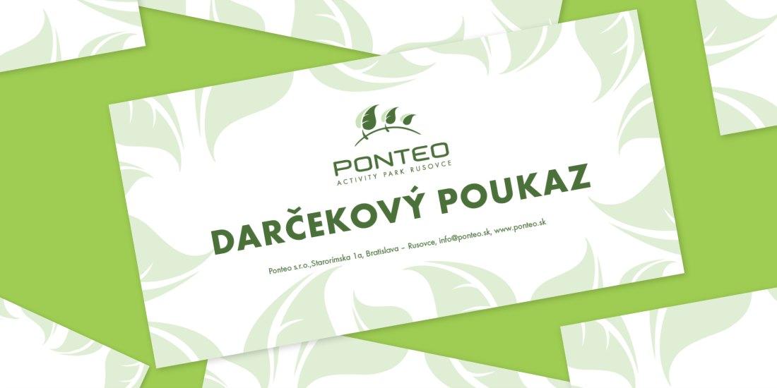 darčekové poukážky Ponteo