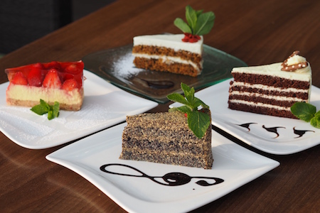 Dessert from the daily special selection